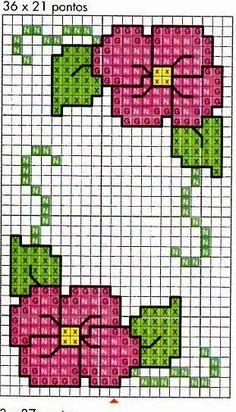 Cross Stitch Pattern Maker, Dmc Cross Stitch, Cross Stitch Bookmarks, Simple Cross Stitch, Cross Stitch Borders, Cross Stitch Flowers, Cross Stitch Designs, Cross Stitch Embroidery, Embroidery Patterns