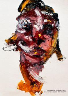Passers-by, Flow, Feburary, Oil Bar on Canvas, 20x30cm, 2012, ⓒJaeyeol Han     http://jaeyeolhan.com/