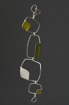 Bracelet - sterling and handmade paper.  Stacked Fields  by Tia Kramer