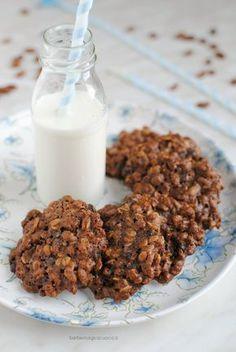 Biscotti di farro soffiato e avena al cioccolato, light & vegan,