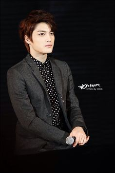 He is Jaejoong Kim. He is main voice. He have great voice and perfect face and body.
