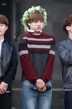 Fluffy flower boy Kai with his flower crown