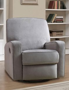 Great for a nursery, the Dawson Swivel Glider Recliner offers outstanding comfort and styling. Starting with the clean look using a contemporary track arm style, with detail such as welting around seat back and arms. Soft, easy to clean poly cotton fabric cover is over a solid plywood frame for durability.