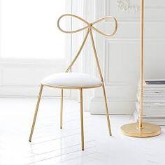 Dusty Blush Lustre Velvet Heart Airgo Desk Chair   PBteen