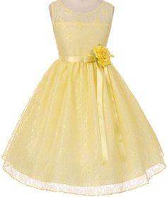 Shanil Yellow Tulle Flower Dress - Toddler & Girls | Tulle flowers ...