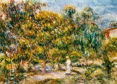 Pierre-Auguste Renoir - The woman in white in the garden of Les Colettes