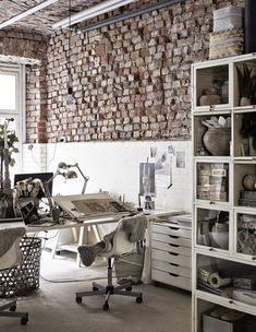 The fab industrial style atelier of a creative