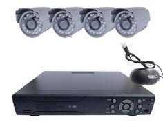 Bezpečnostný kamerový systém silver, 4x kamera + 4-kanálový DVR-1008H - Best-shop.sk