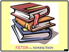 VizZle lesson explaining Fiction v. NonFiction writing and how to identify them.