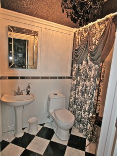 """Traditional """"black And White Bathroom"""" Design, Pictures, Remodel, Decor and Ideas - page 4"""