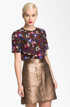 Marc By Marc Jacobs Short Sleeve Silk Top Blouse SZ 6 NWT $228 #MarcbyMarcJacobs #Blouse #Career