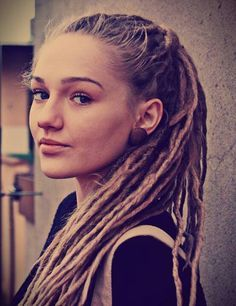 I like skinny dreads too. get dreadlocks:) hair styles for white girl dreads - Google Search