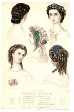late 1850s French fashion plate