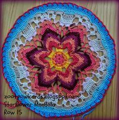 Yıldız Çiçeği Örgü Mandala Yapımı 23