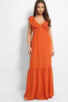 Gypsy Dresses, Boho Dress, High Street Trends, Summer Maxi, Women Sleeve, V Neck Dress, Types Of Sleeves, Chiffon, Bridesmaid Dresses