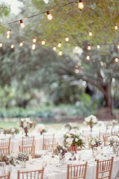 Smaller centerpieces mixed in with larger ones, all low profile