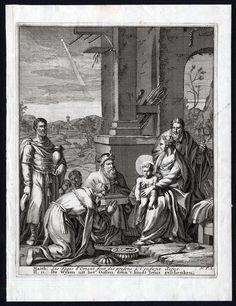 Antique Bible Print-N.T.2-MAGI-JESUS-MARIA-JOSEPH-GIFT-STAR-Halma-Scheits-1710 in Art, Art from Dealers & Resellers, Prints | eBay