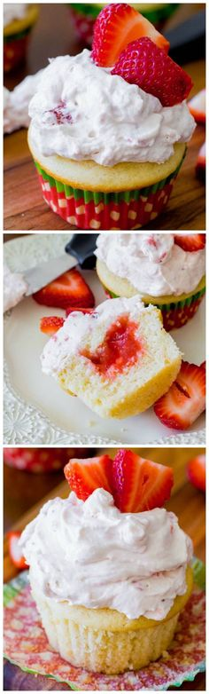 These fluffy, fruity Strawberry Shortcake Cupcakes are made completely from scratch. And yet are so simple!