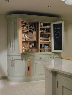 The 1909 Kitchens range is a modern twist on a traditional British kitchen. See our stunning collection of kitchen styles now or visit our kitchen showroom today Kitchen Larder, New Kitchen, Kitchen Storage, Kitchen Decor, Kitchen Cabinets, Larder Cupboard, Kitchen Bins, Kitchen Laminate, Kitchen Worktops