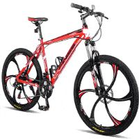 Merax Finiss Aluminum 21 Speed Magnesium Alloy Wheel Mountain Bike Image 1 of 10 Best Cheap Mountain Bike, Mountain Bike Reviews, Mountain Biking, Buy Bike, Bike Run, Mountain Bike Suspension, Folding Mountain Bike, Bicycle Maintenance, Cool Bike Accessories