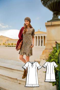 Keyhole Ruffle Dress 09/2015 #burdastyle #sew #sewing #sewingpattern #diy