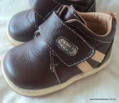 Shoes for Jarrah? Boys Brown Leather Boots: Sz 2 - 6