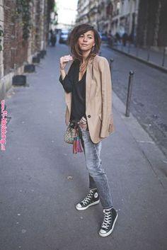 the long blazer with slim boyfriend jeans. Moda Outfits, Fall Outfits, Casual Outfits, Cute Outfits, Fashion Outfits, Womens Fashion, Fashion Trends, Jeans Fashion, Mode Style