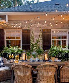 """2,296 Likes, 60 Comments - Kristy Wicks (@kristywicks) on Instagram: """"Twinkling courtyard goals ✨ Beautiful garden via @meineart_dp. Goodnight everyone . . . . . . .…"""""""