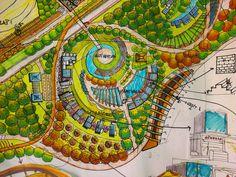 1/500 ÖLÇEKLI KENTSEL TASARIM PLANI Kentsel Tasarim 1/500 ölçekli detay projesi  Konsept Çizimleri