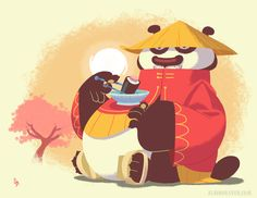 Artwork by Glen Brogan — Illustration inspired by Kung Fu Panda