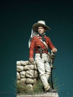 British infantry Officer, Indian Mutiny c.1857. Sculpted by Mariano Numitone & painted by M.Bounarroti