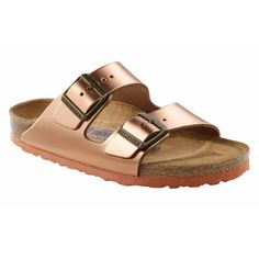 Purchase from our large selection of Birkenstock Footwear offering sandals, clogs, shoes, slippers & boots. Birkenstock Sandals, Birkenstock Arizona, Metallic Sandals, Leather Sandals, Two Strap Sandals, Slipper Boots, Copper Metal, Metallic Leather, Ugg Australia