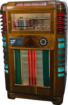 Rare Wurlitzer Model P-12 Jukebox c1935. #jukebox #music http://www.pinterest.com/TheHitman14/ghosts-of-audios-past/
