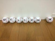 ウェルカムスペースに置く野球ボール 1個野球ボール紛失どこだ #welcome#baseball #wedding... #wedding #weddings