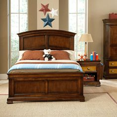 A little young, but I like the grown up bed set, they can grow into.