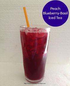 Peach Blueberry-Basil Iced Tea #Recipe
