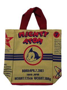 Rare NEW Tezuka Osamu Astro Boy Tote Bag Yellow School Bag Stationary