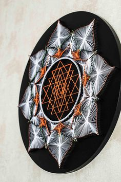 SRI YANTRA ► GLOW IN UV LIGHT The oldest tool that changes mans psychophysiological state. It is used for meditation and concentration. Circular frame Ø 52cm / 20,4 Ø 60cm / 23,6 More Sri Yantra: