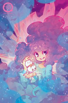 barachan:oh — apparently this is coming out next month (feb 25th!) i did a cover for bee and puppycat #9, which was super fun and i'm happy i finally get to share it with you guys ♥
