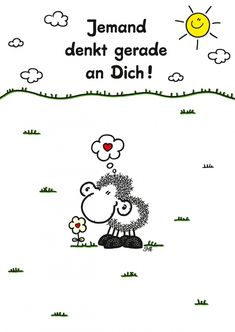 Jemand denkt gerade an Dich! | sheepworld | Echte Postkarten online versenden…