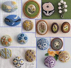 Embroidery & Clay Brooch Patterns Japanese Craft Book Kawaii