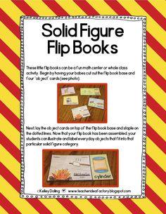 A FREEBIE TO FLIP OVER . . . Solid Figure Flip Books.