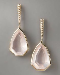 more stephen dweck...this time rose quartz drop earrings.