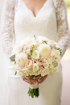 Wedding Bouquets Inspiration : Brides bouquet with pretty brooch details: www.stylemepretty   Photography: