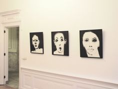 "Marjanne Beeuwkes, expositie ""en face"" in Galerie Bel-Etage, Amsterdam Amsterdam, Gallery Wall, Portraits, Ink, Drawings, Frame, Home Decor, Picture Frame, Decoration Home"