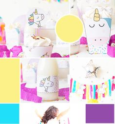 moodboar kit printable unicorn