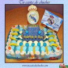 Tarta tradicional chuches con escudo Real Madrid
