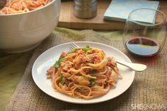 Linguini with chicken and Parmesan artichoke blush sauce recipe #sheknows