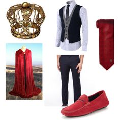 This will be the King of Hearts' costume. The costume is very royalty like. I did this on purpose because with the queen's edgy look, I wanted the king to have a certain sophisticated look so that they would contrast.