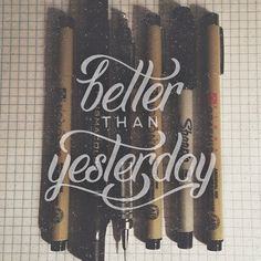 Better than yesterday.  Whatever your craft, you aren't going to become the best you can be in one day or one month or one year. Set a realistic goal of performing a little bit better each day.  Every time I sit down with pencil and paper, I try to keep in mind all of the previous mistakes I've made with other pieces and think of ways to fix them. Improving on these little imperfections one by one helps to build confidence and improves the overall process.  Keep doing what you're doing and…